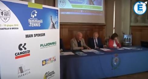 Internazionali femminili di tennis a Brescia, nella cornice del castello