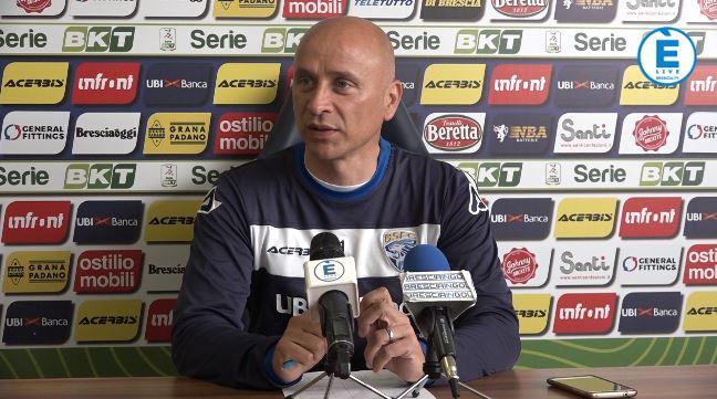 """Brescia, Corini: """"Abbiamo in testa solo il Foggia"""""""