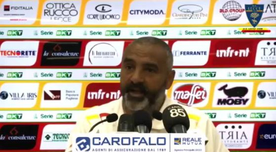 """Lecce, Liverani: """"Il Brescia merita il primo posto. E' una squadra forte"""""""