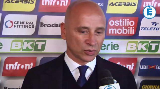 """Brescia saluta la B, Corini: """"Grande cavalcata. Ora il futuro"""""""
