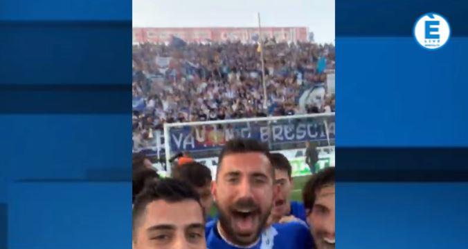 Promozione Brescia, la festa sui social dei giocatori