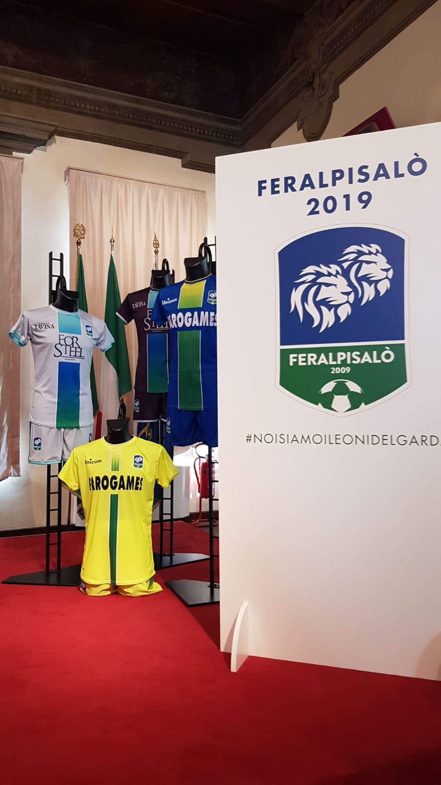 Feralpi Salò, Giuseppe Pasini punta in alto con un nuovo logo e nuove maglie