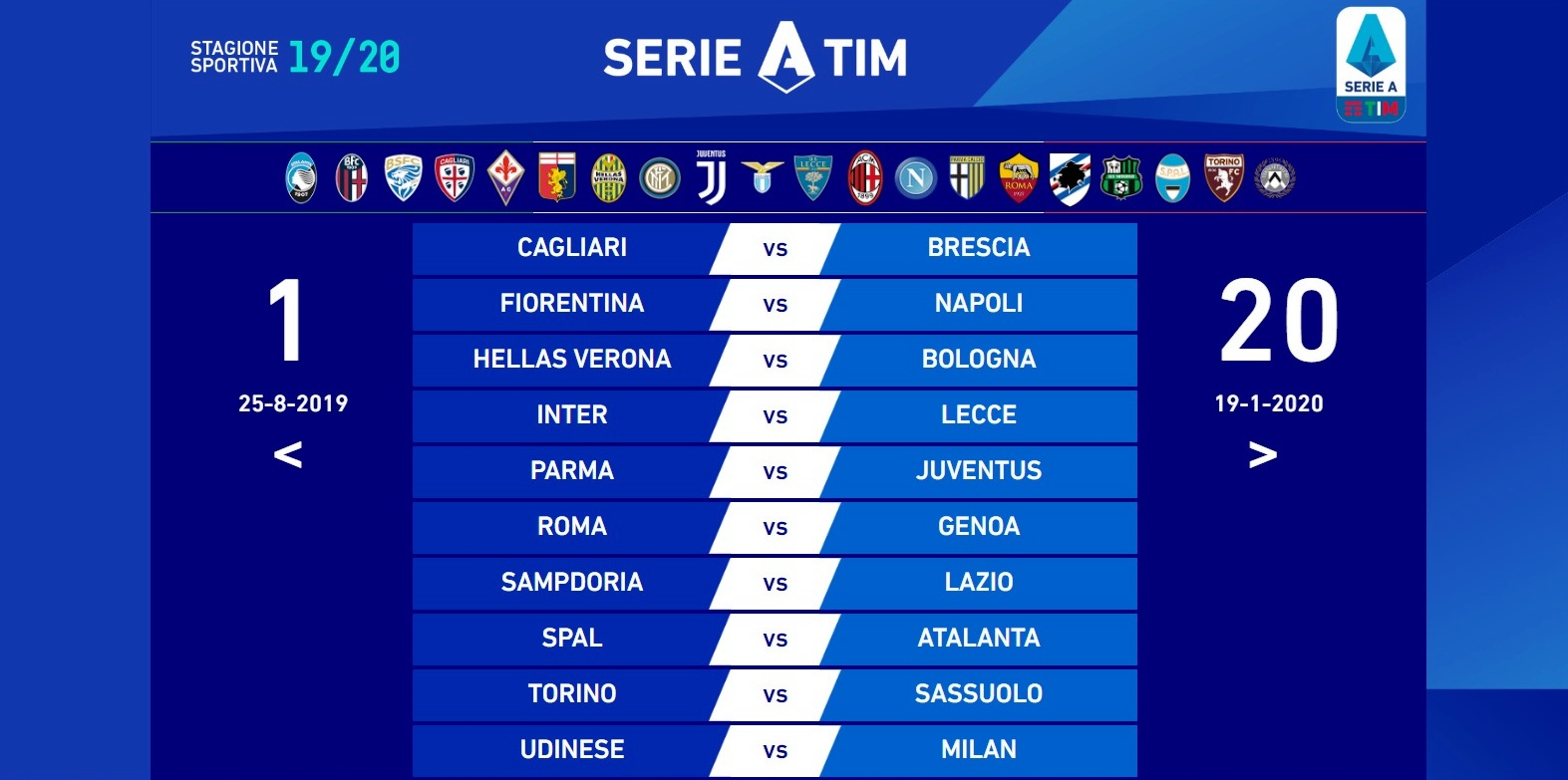 Calendario Serie A Sampdoria.Brescia In Serie A Dal Cagliari Alla Sampdoria Il Cammino