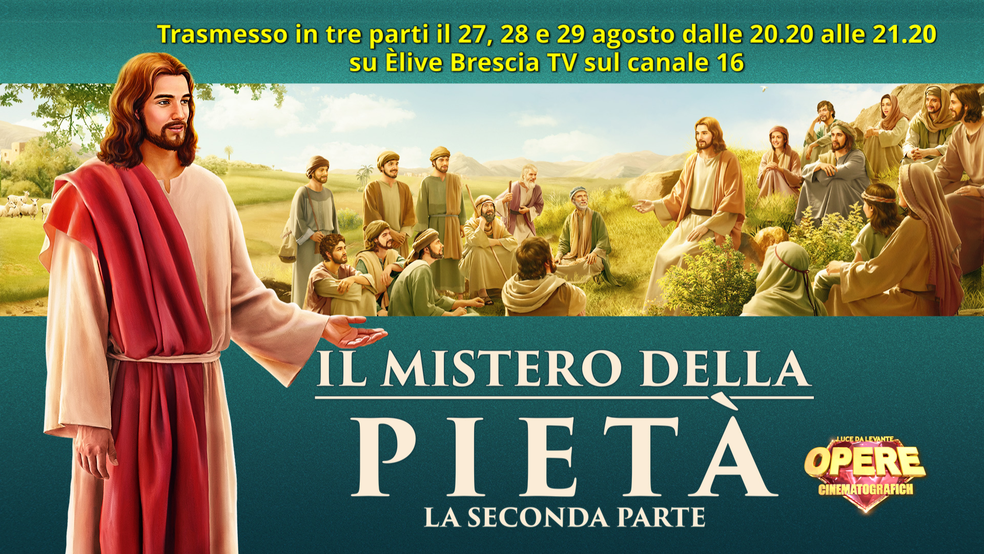 """Il mistero della Pietà 2. Alle 20.20 nuova settimana su ÈliveTv con le produzioni """"Luce da Levante"""""""