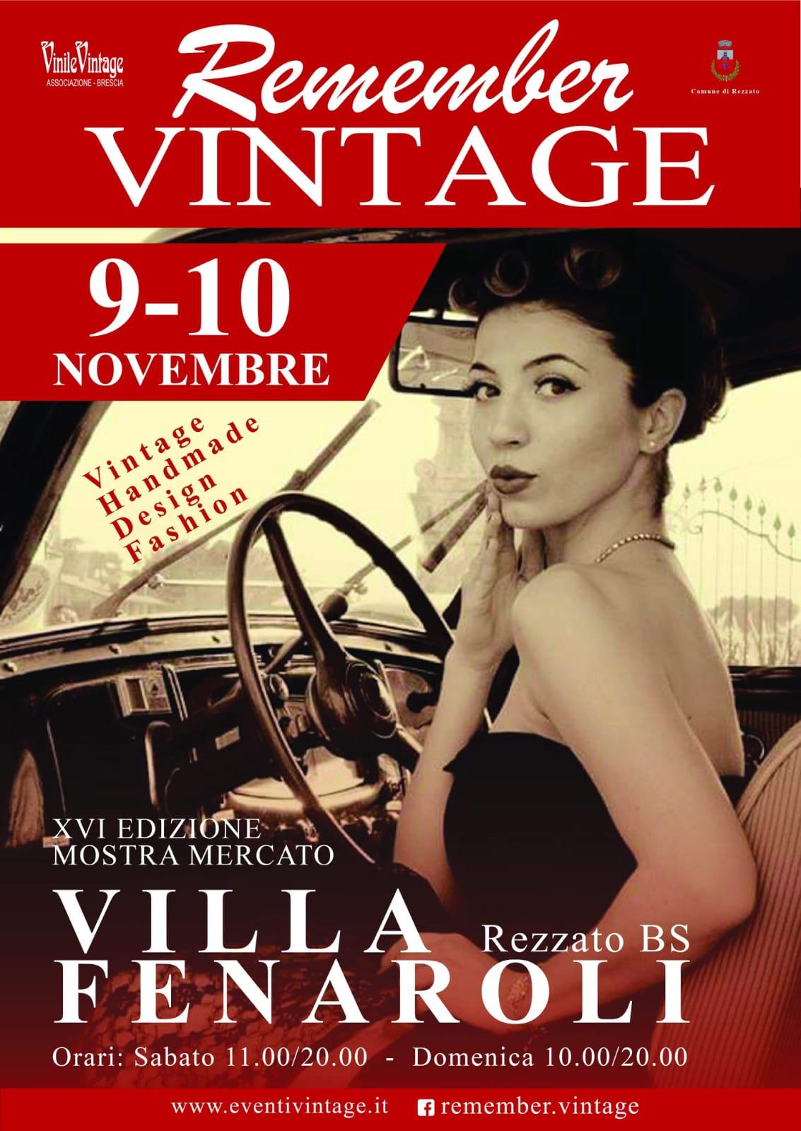 """Remember Vintage"". Week end a Villa Fenaroli per un tuffo negli anni 60"