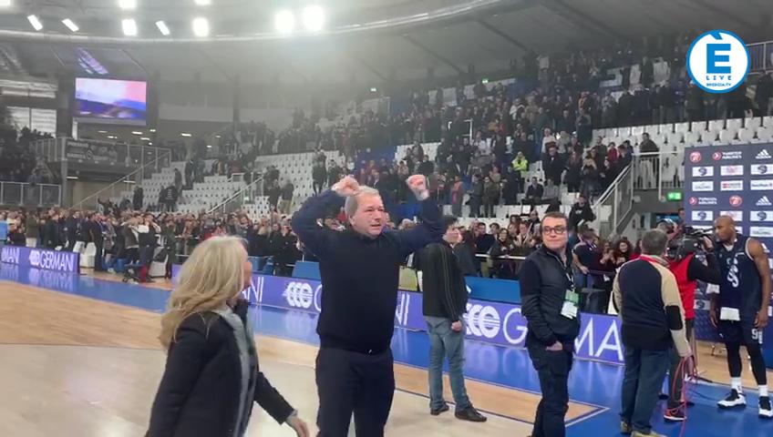 """Germani Basket Brescia in Top 16, Bragaglio e Bonetti """"Questa è storia!"""""""