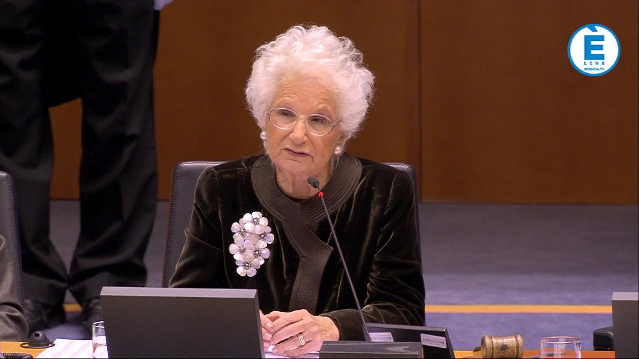 """Liliana Segre al Parlamento Europeo, """"discorso da pelle d'oca"""". Stasera alle 22.30 su ÈliveBrescia"""