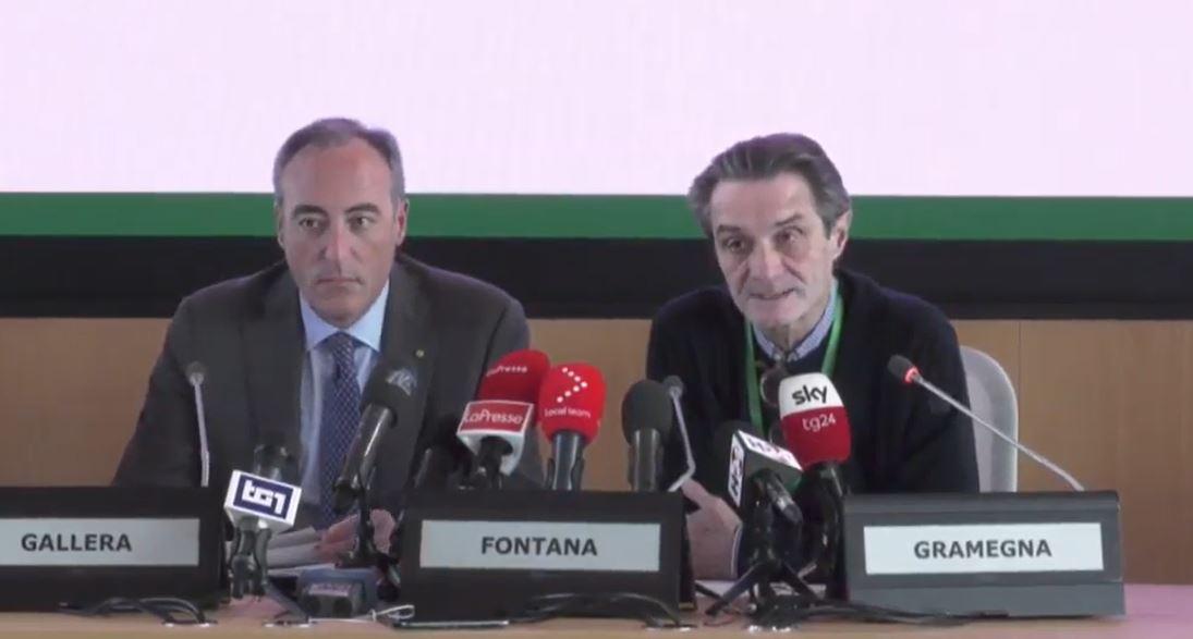 "Fontana: ""Infezioni riferibili all'alto lodigiano"""
