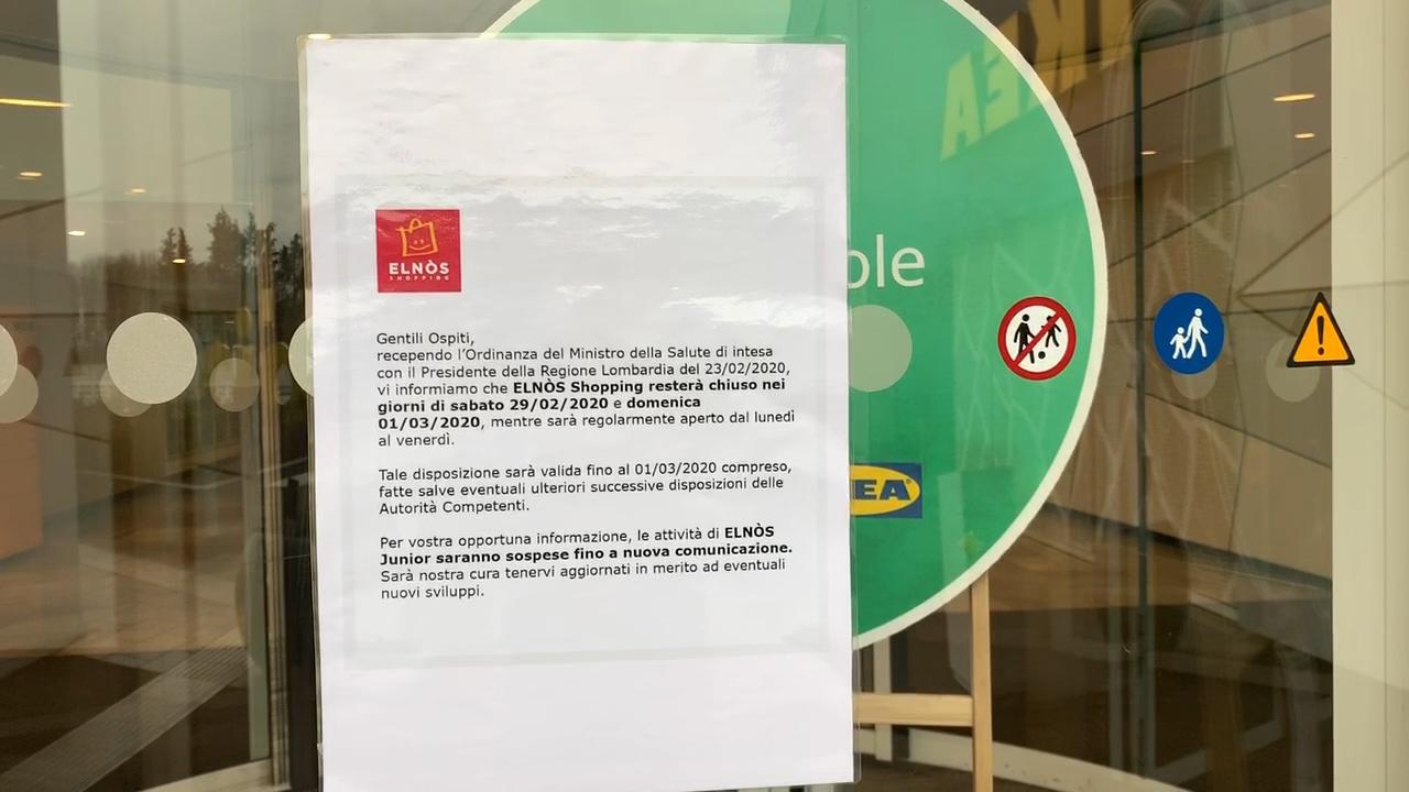 Il sabato del coronavirus, i centri commerciali sono completamente chiusi. La reazione dei bresciani