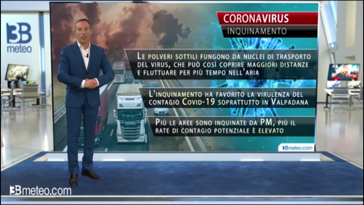 Coronavirus – inquinamento atmosferico. C'è relazione? L'opione di 3B Meteo