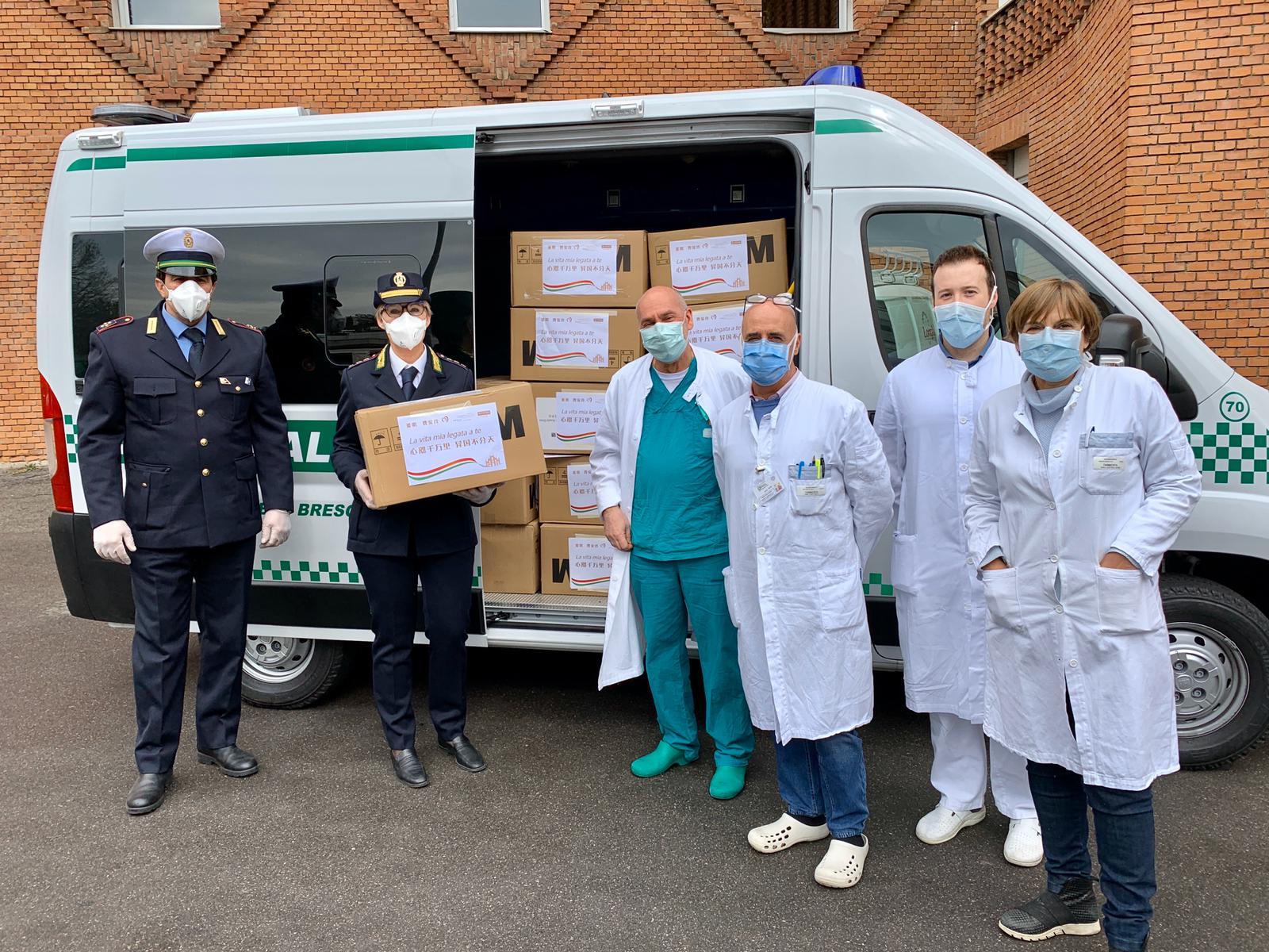 20.000 mascherine donate al Civile