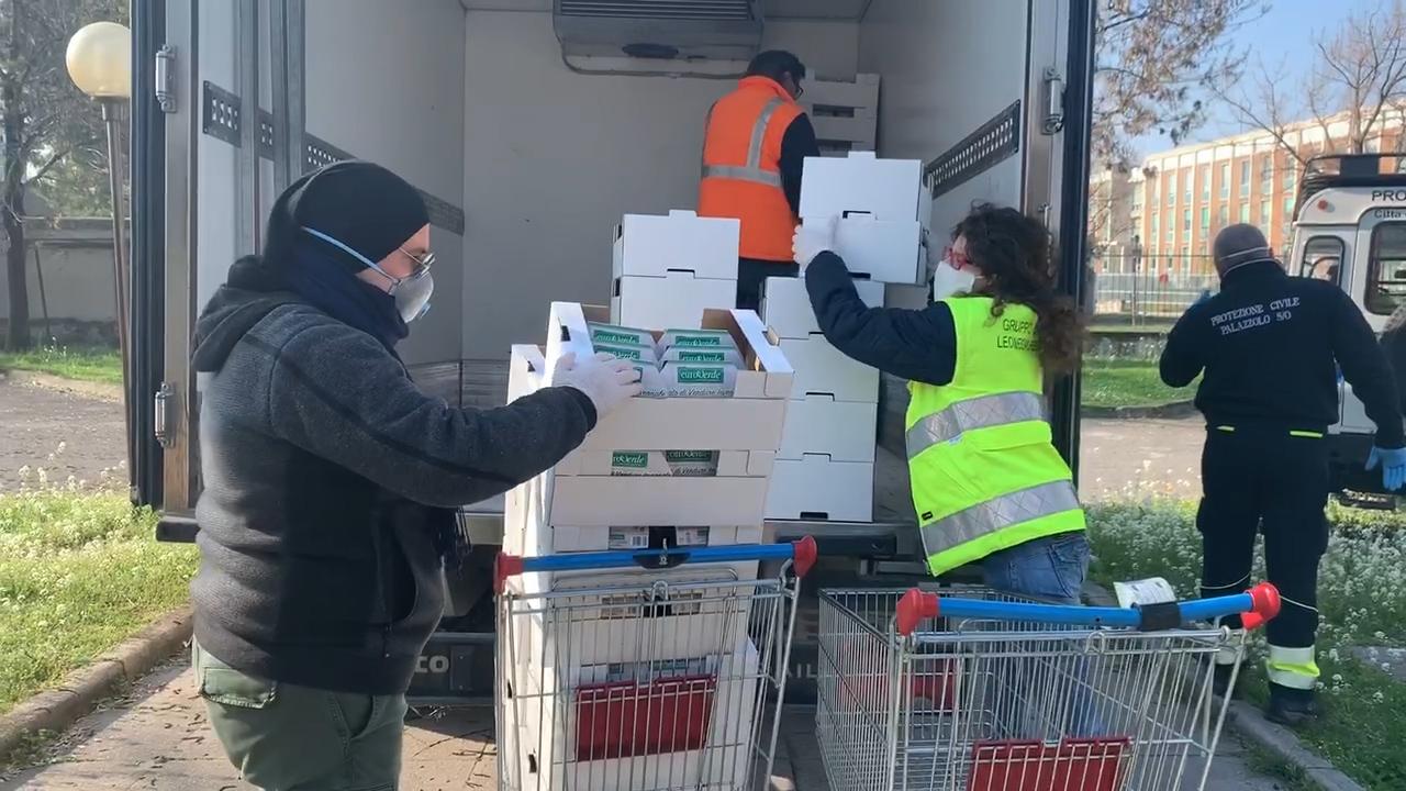 Coronavirus, Protezione Civile Leonessa al lavoro per fornire pasti pronti e pasta