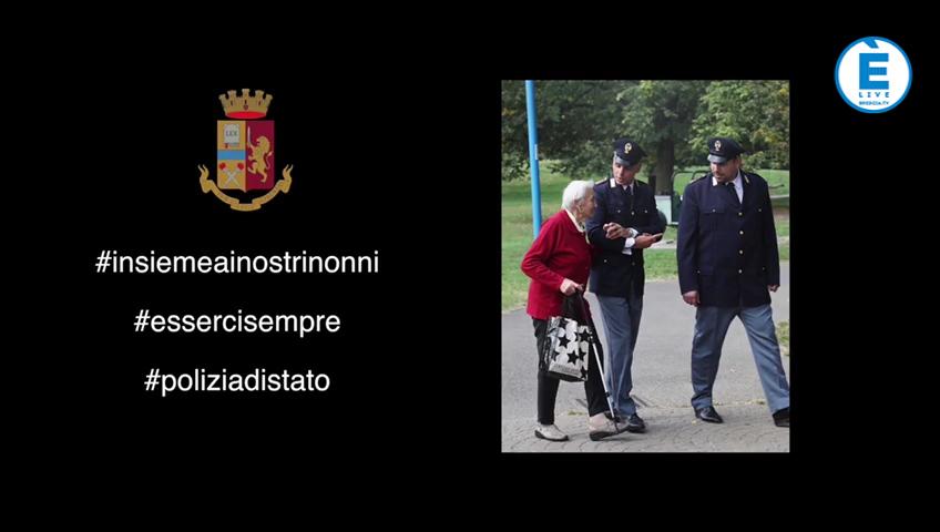 #insiemeainostrinonni, l'omaggio della Polizia di Stato a tutti i nonni
