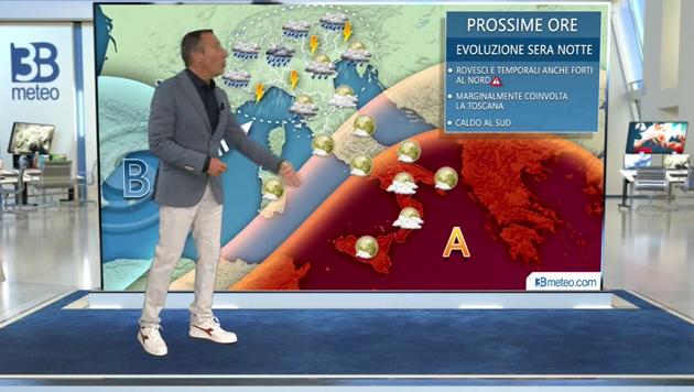 Meteo, in arrivo in serata temporali, anche di forte intensità, sul nord Italia e sul bresciano