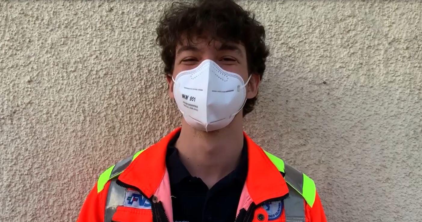 """""""I sorrisi dietro le mascherine"""", il messaggio di speranza e solidarietà di Bresciasoccorso"""