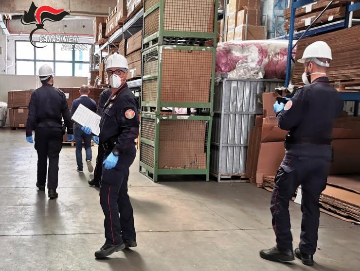 I controlli dei Carabinieri nelle aziende