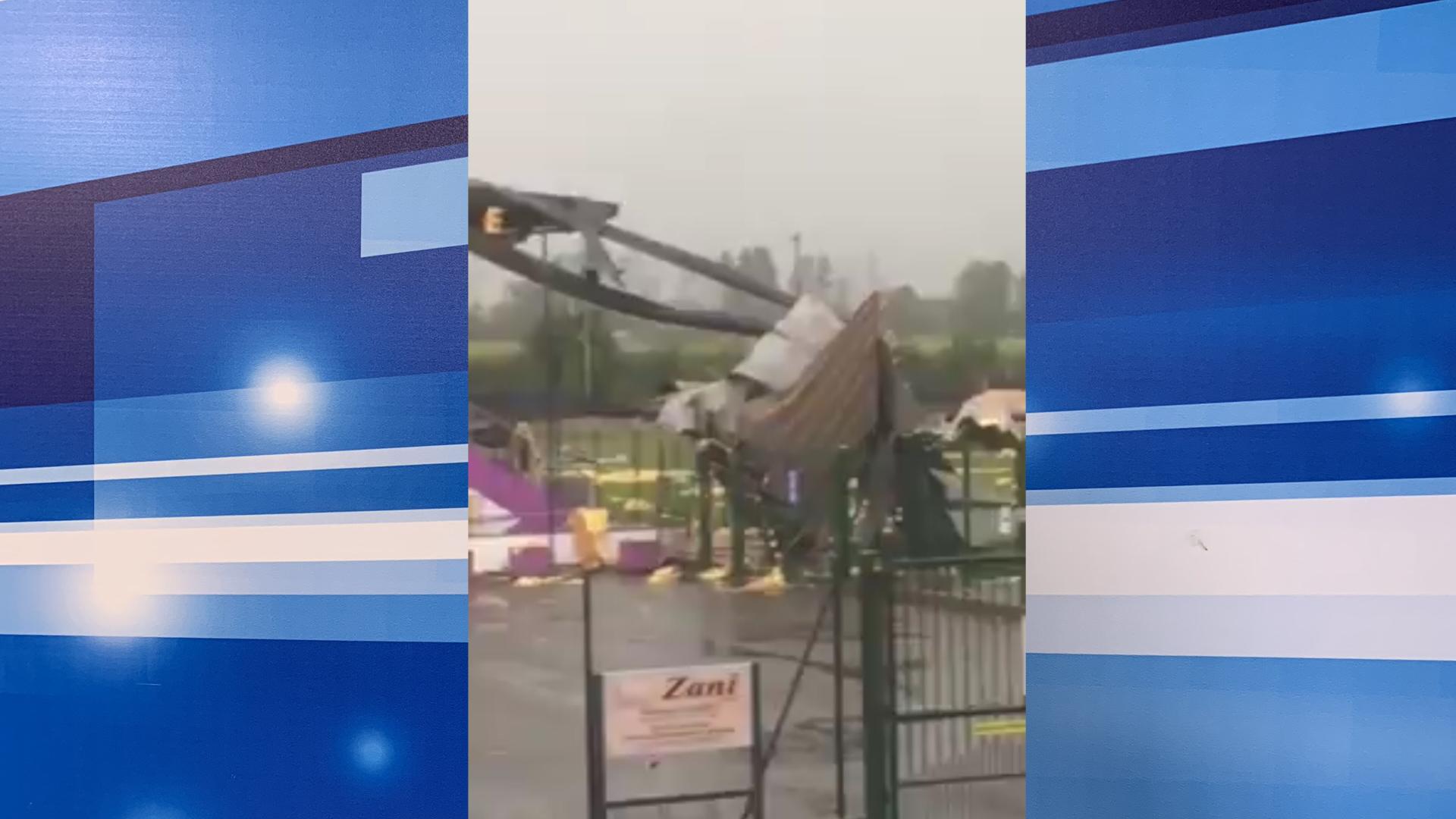 Maltempo: pioggia, grandine e vento flagellano il campo sportivo di Castegnato
