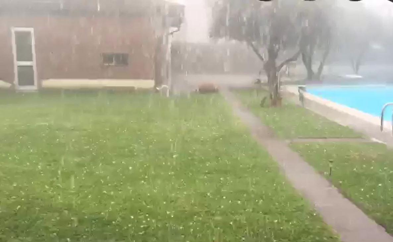 Maltempo, pioggia e grandine sulla Franciacorta