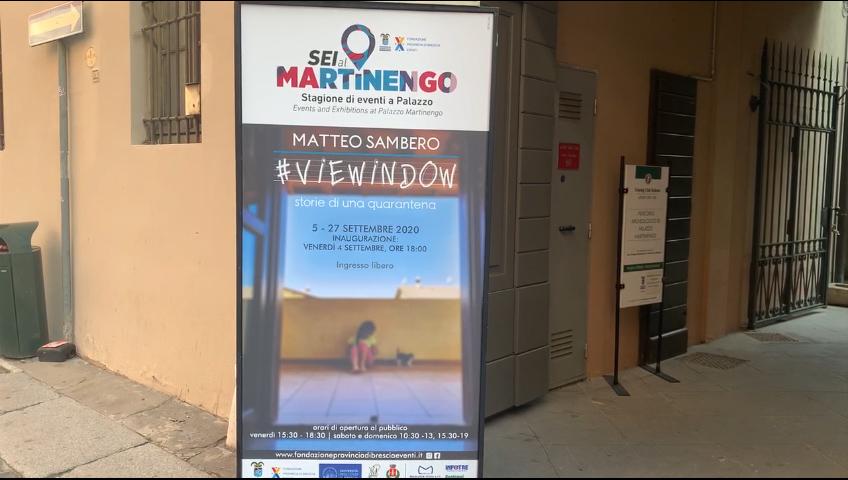 """Mostre, """"Sei al Martinengo"""" apre con """"Viewindow"""" di Matteo Sambero"""