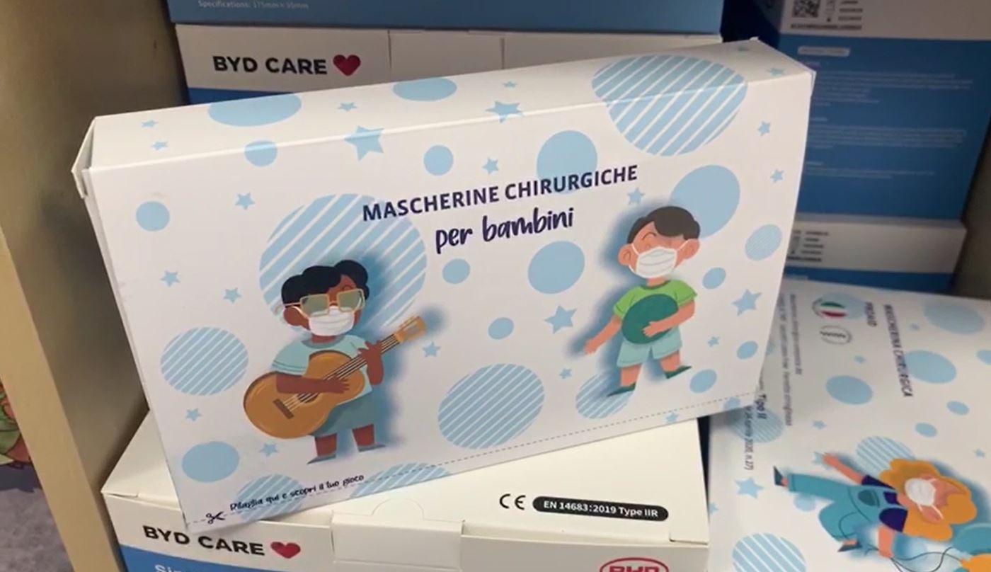 Arrivate nelle tabaccherie le mascherine chirurgiche per bambini