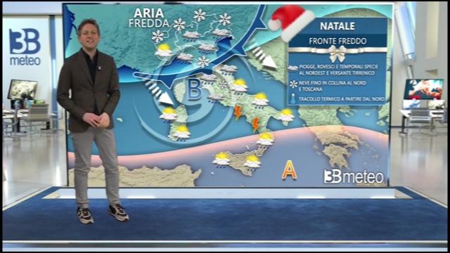 Freddo, pioggia e neve tra Natale e il 31 dicembre