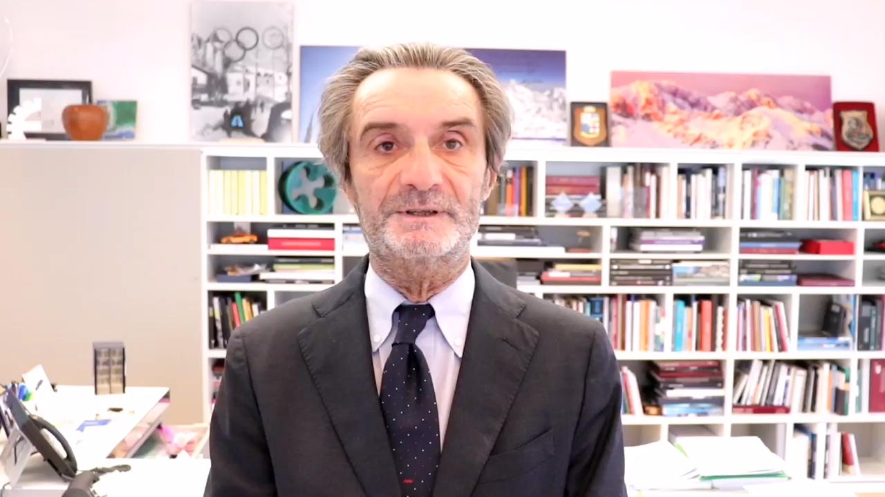"""Fontana: """"Da domenica la Lombardia sarà ufficialmente zona gialla"""""""