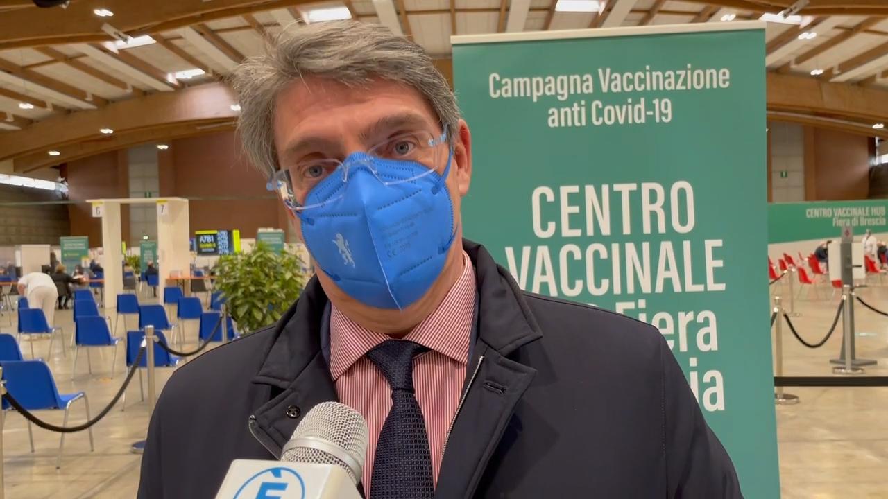 """Del Bono al centro vaccinale della Fiera, """"soddisfatto ma ora bisogna correre di più"""""""