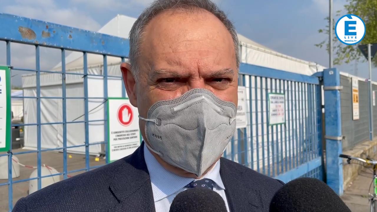 """Attentato in via Morelli, Lombardo """"se qualcuno voleva fermarci, non ci ferma. Anche oggi 1000 vaccinazioni"""""""