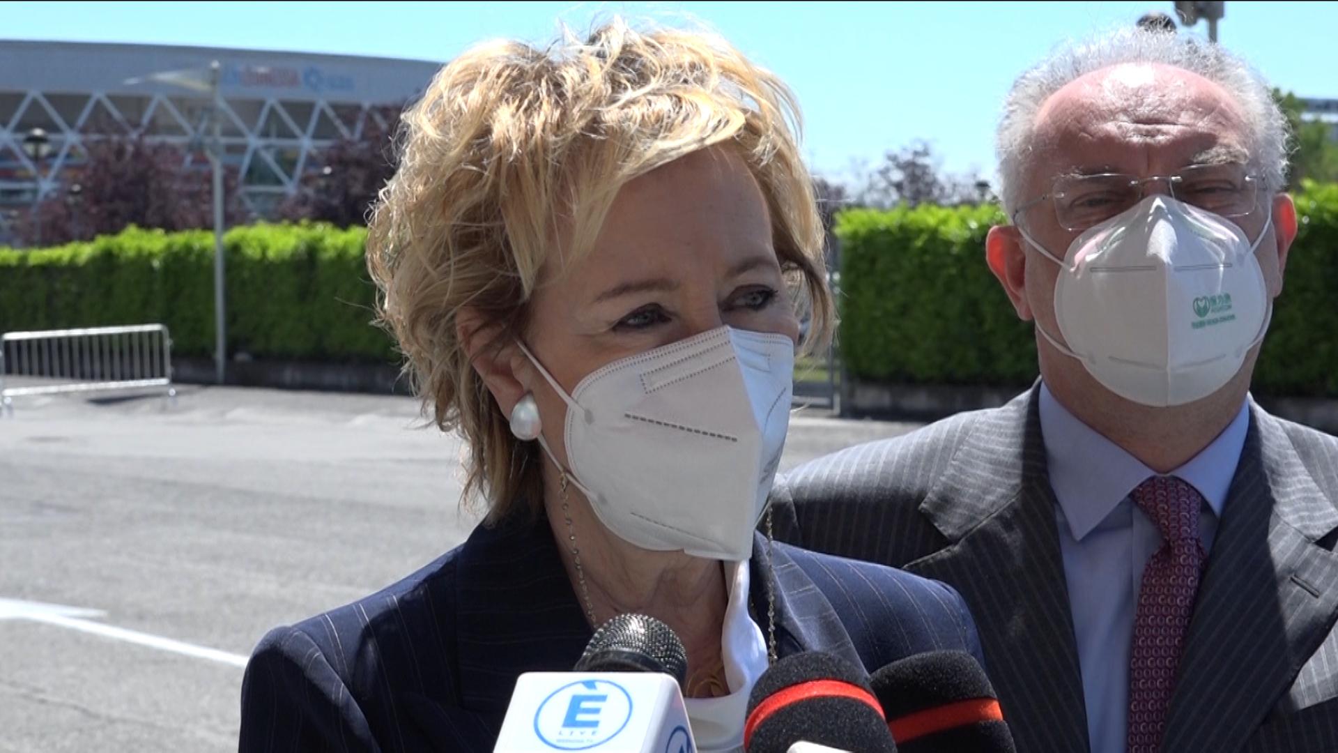 """Moratti: """"Domani raggiungeremo le 10 milioni di dosi somministrate"""""""