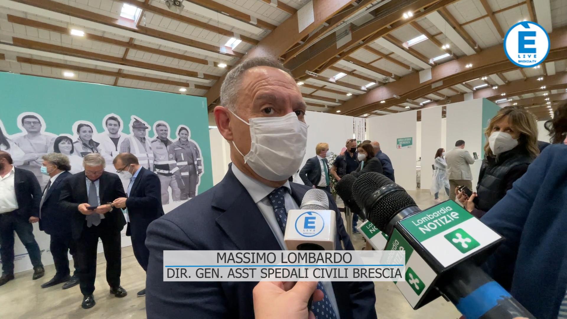 """Lombardo """"abbiamo somministrato 190 mila dosi, di cui 60 mila in Fiera a Brescia"""""""