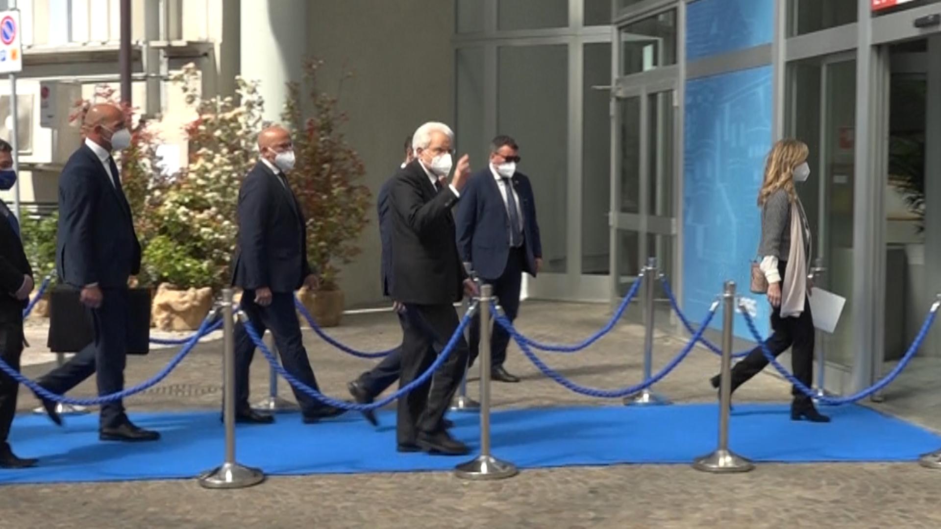 """Mattarella a Brescia: """"Ora è il momento del rilancio"""""""