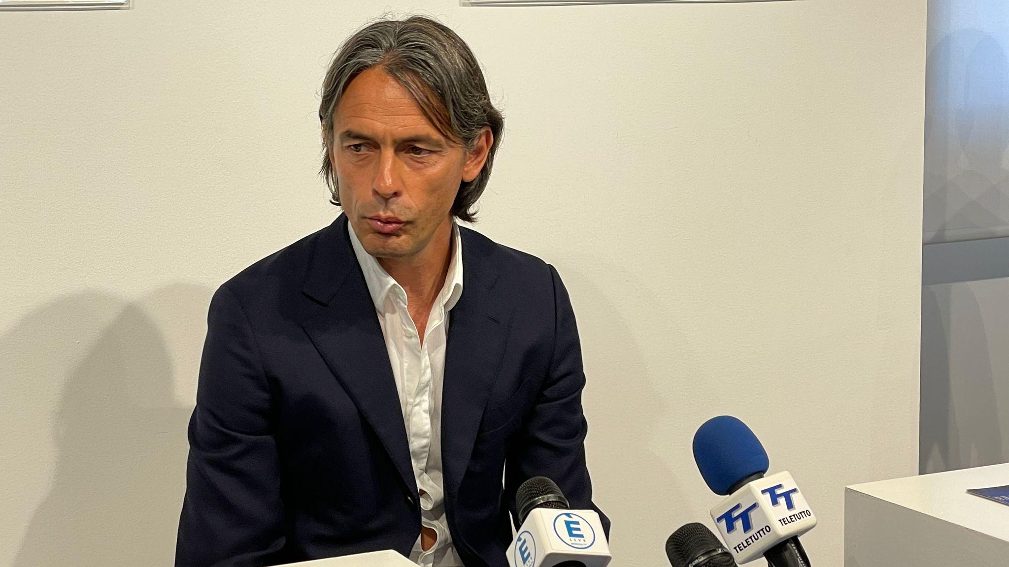 Inzaghi a Brescia, le prime immagini da nuovo allenatore