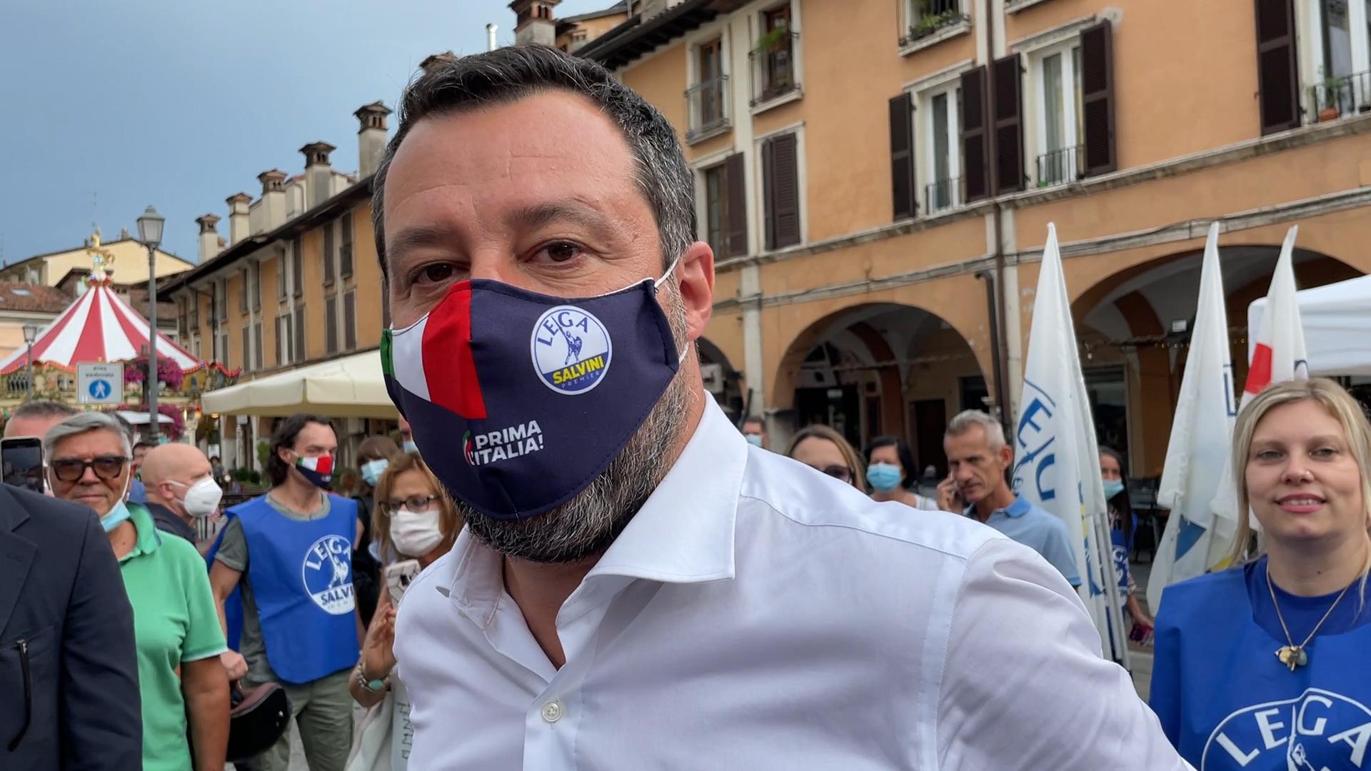 Autostrada della Valtrompia e referendum, tour bresciano per Salvini