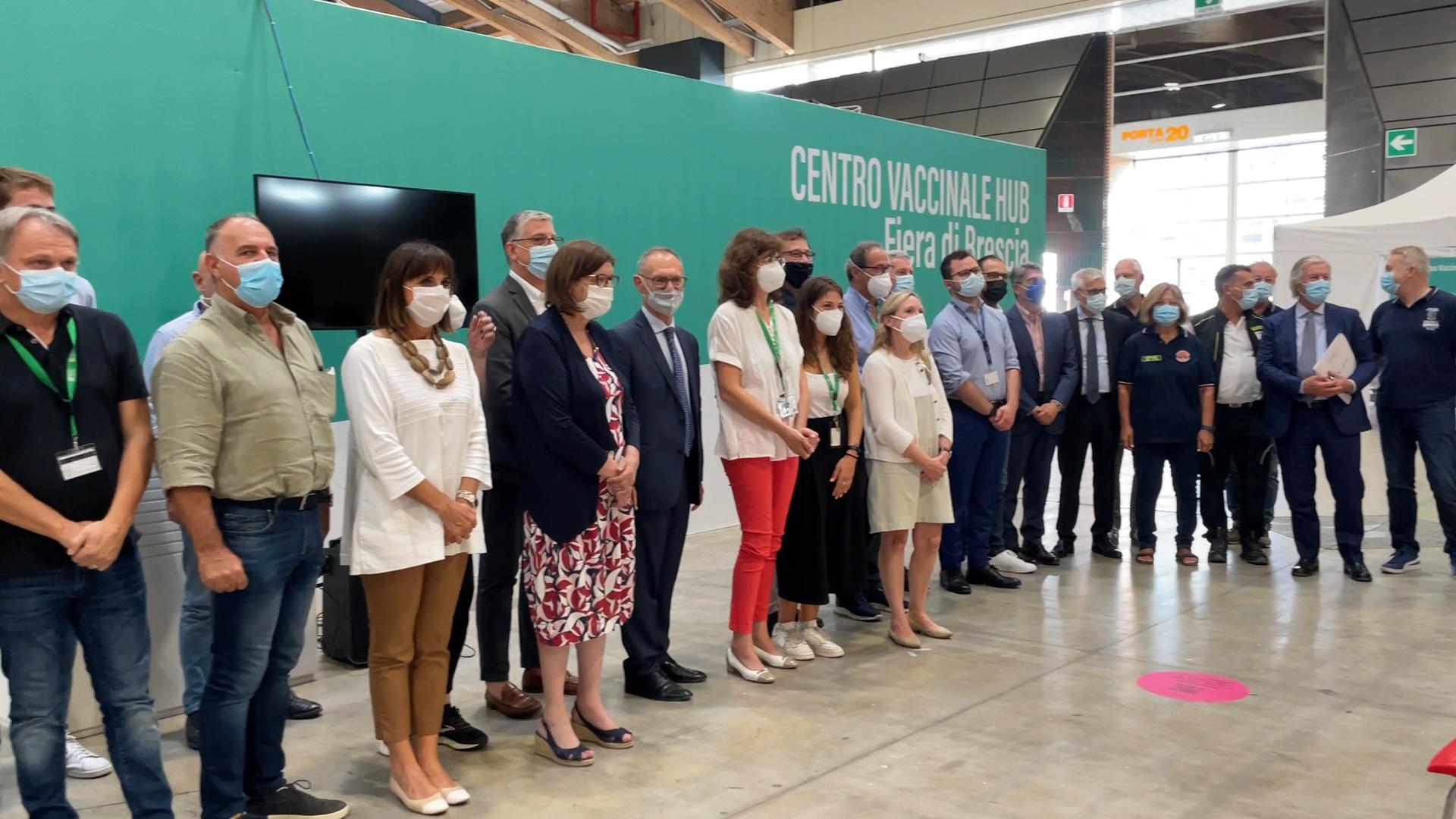 Cala il sipario sull'Hub vaccinale al Brixia Forum